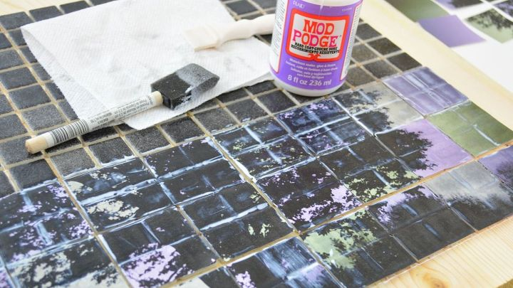 tile tree mosaic art, crafts