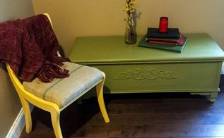 inspired by a lane cedar chest makeover, painted furniture, woodworking projects