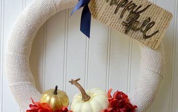 Simple Burlap Wreath #BurlapLoversSeries