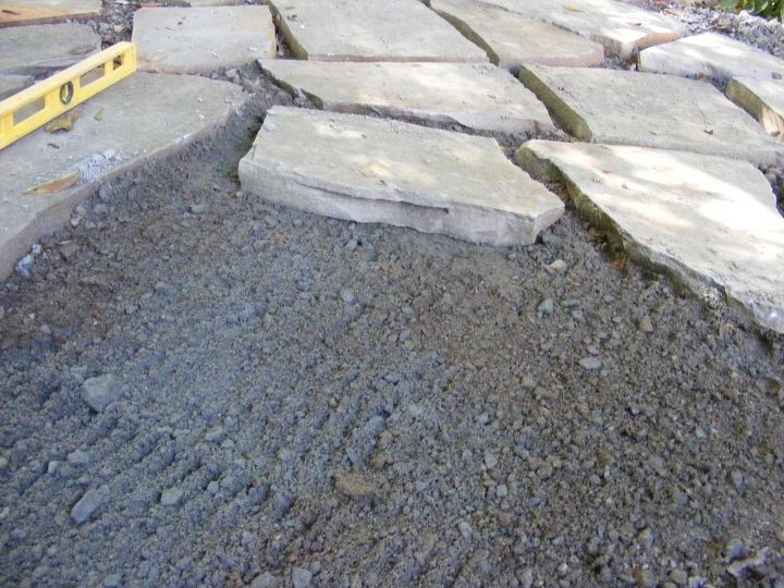 make a flagstone patio, concrete masonry, diy, outdoor living, patio