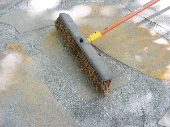 make a flagstone patio, concrete masonry, diy, outdoor living, patio