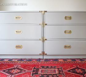 Pair Of Dixie Campaign Dresser In Benjamin Moore Advance, Painted Furniture