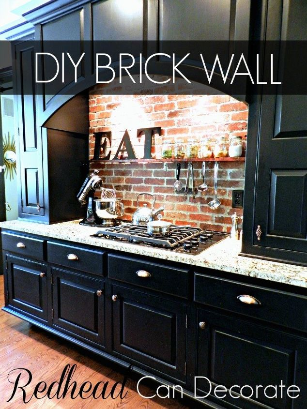 DIY Brick Backsplash | Hometalk on kitchen backsplashes with brick, kitchen islands with brick, cherry kitchen cabinets with brick, black kitchen cabinets with brick, kitchen design ideas with brick, kitchen remodel, tuscan kitchen design with brick, kitchen tile, kitchen backsplash with red brick, kitchen layouts with brick, kitchen brick wall, kitchen designs for small kitchens with window, concrete patio design ideas with brick, kitchen countertops, kitchen remodeling ideas, kitchen colors with natural hickory cabinets, exterior house color ideas with brick, kitchen cabinet color with yellow walls, kitchen design ideas with cream cabinets, old world rustic kitchen with brick,