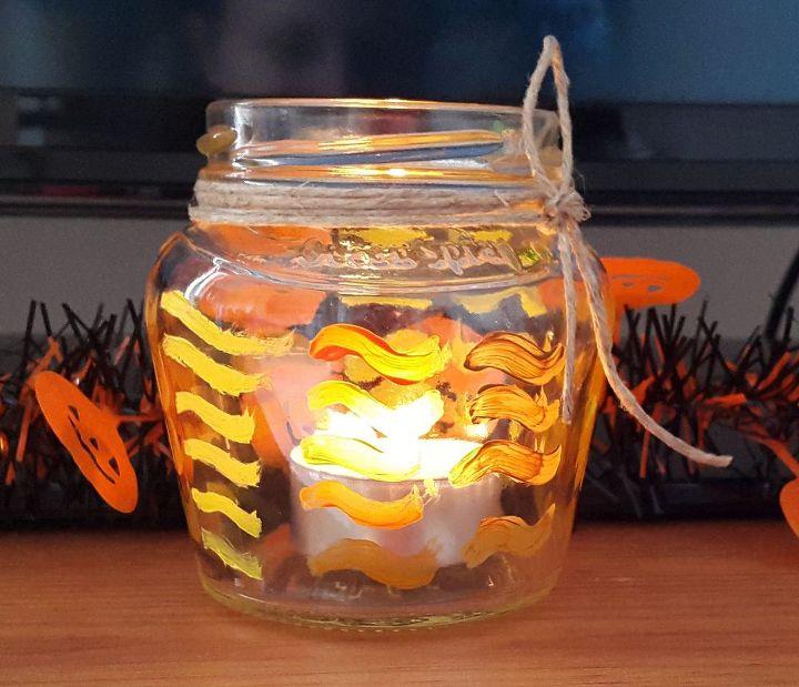 easy fall jar craft, crafts, home decor, mason jars, seasonal holiday decor