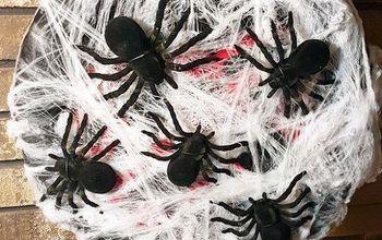 Create Your Own Sparkly Spider Wreath