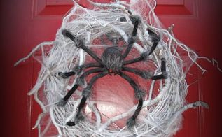 spider halloween wreath diy, crafts, halloween decorations, seasonal holiday decor, wreaths