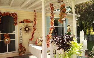 outdoor fall decor, porches, seasonal holiday decor