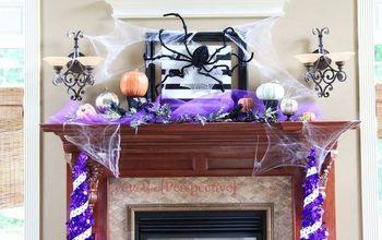 Halloween Mantle... Over My Huge Fireplace!