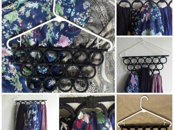 diy scarf or tie hanger, organizing