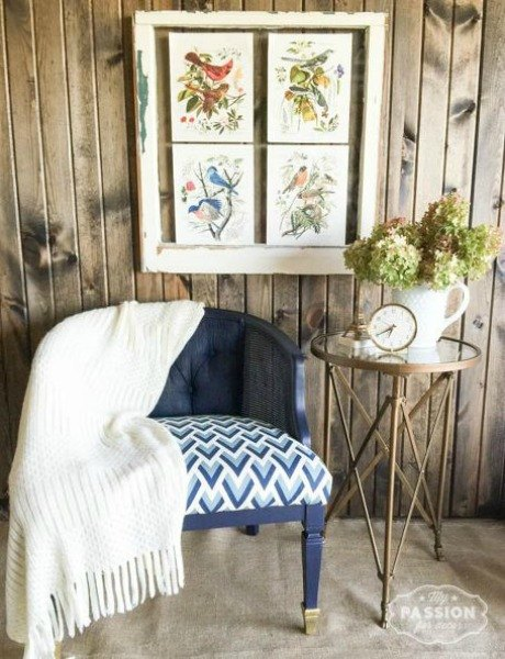 s 19 geometric furniture designs to instantly redefine your space, home decor, painted furniture, repurposing upcycling, Rescued Geometric Chair