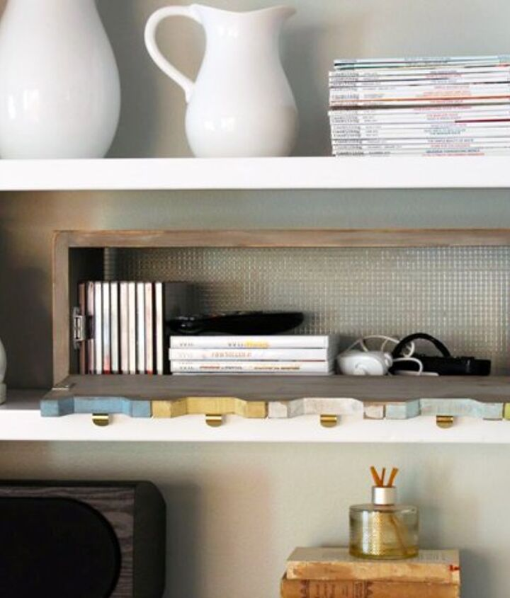 plenty o storage from one board, organizing, shelving ideas, storage ideas, woodworking projects