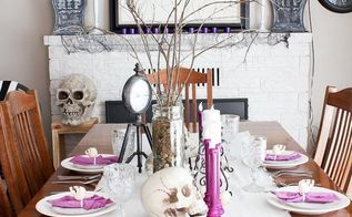 halloween dining room and mantel tour, fireplaces mantels, halloween decorations, seasonal holiday decor