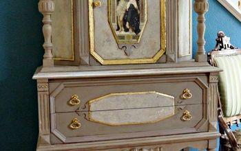 the madonna cabinet, painted furniture, The Virgin Jesus and Saint John Baptist