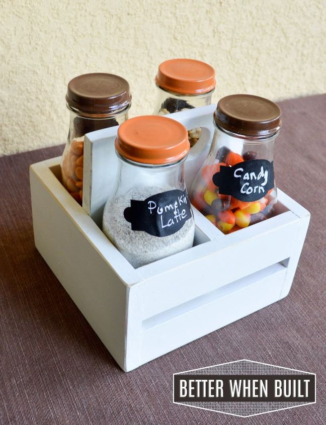 diy frappuccino bottle crate, crafts, seasonal holiday decor, thanksgiving decorations