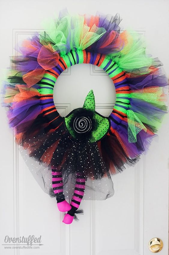 Easy Witchy Tulle Halloween Wreath Hometalk