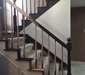 It Looked Easy On Pintrest Adventures Of A 6 Week Stair Case Remodel, Diy,