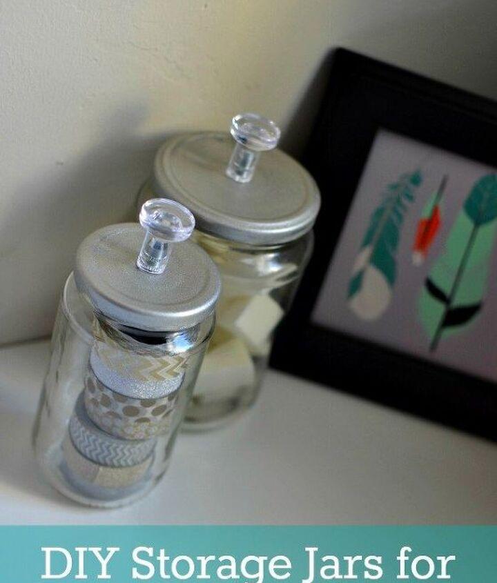 under 1 diy storage jars, crafts, organizing, repurposing upcycling