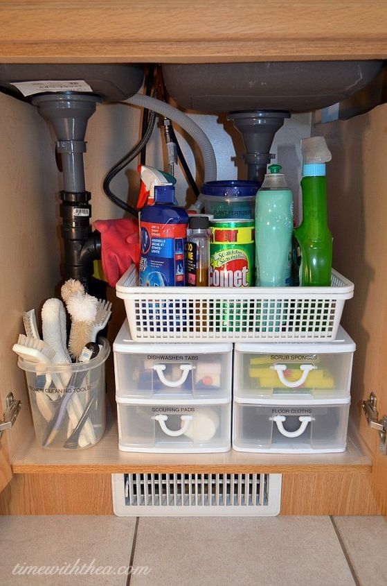Inexpensive Storage Ideas To Make The Most Of A Kitchen Sink Cabinet ...