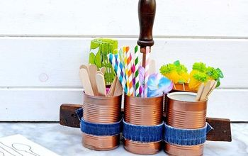Upcycle Tin Cans and Old Jeans Into a Handy Caddy