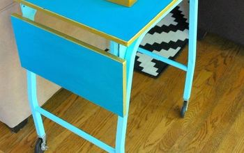 Vintage Typewriter Table to Side Table (and Drink Table!)