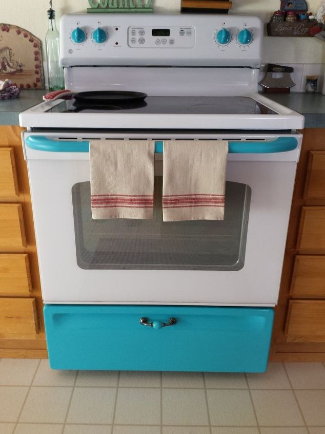 give your white stove a touch of vintage, appliances, kitchen design, painting