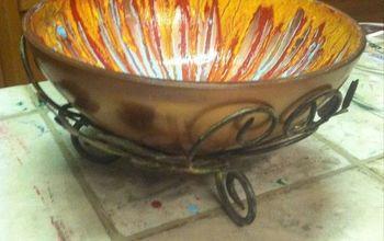 fruit bowl, crafts, decoupage