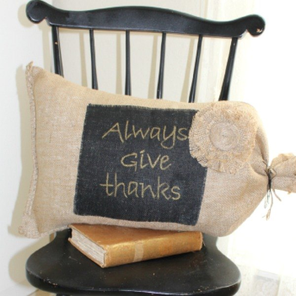 s these 18 insanely cute burlap ideas are guaranteed to make you smile, crafts, reupholster, Make a Rustic Sack Pillow With It