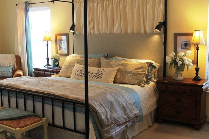 master bedroom headboard, bedroom ideas, repurposing upcycling, reupholster