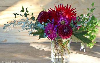 diy harvest floral arrangement, flowers, seasonal holiday decor