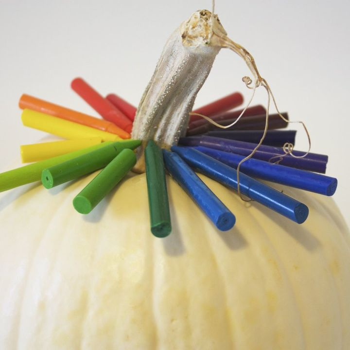 Rainbow pumpkin!