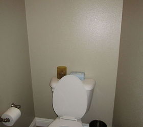 Builder Basic Powder Room To Beautiful Before After, Bathroom Ideas, Home  Decor, Small