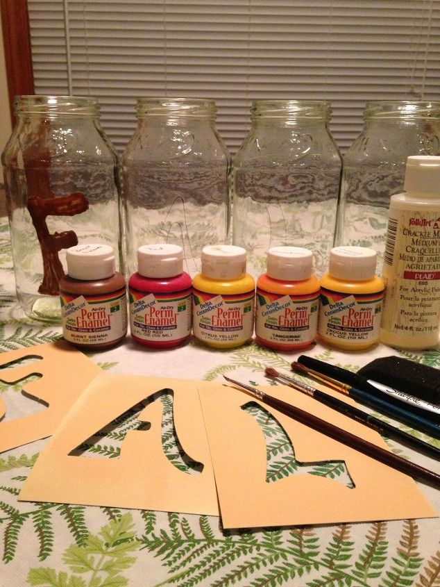 Materials for the glass jar vases