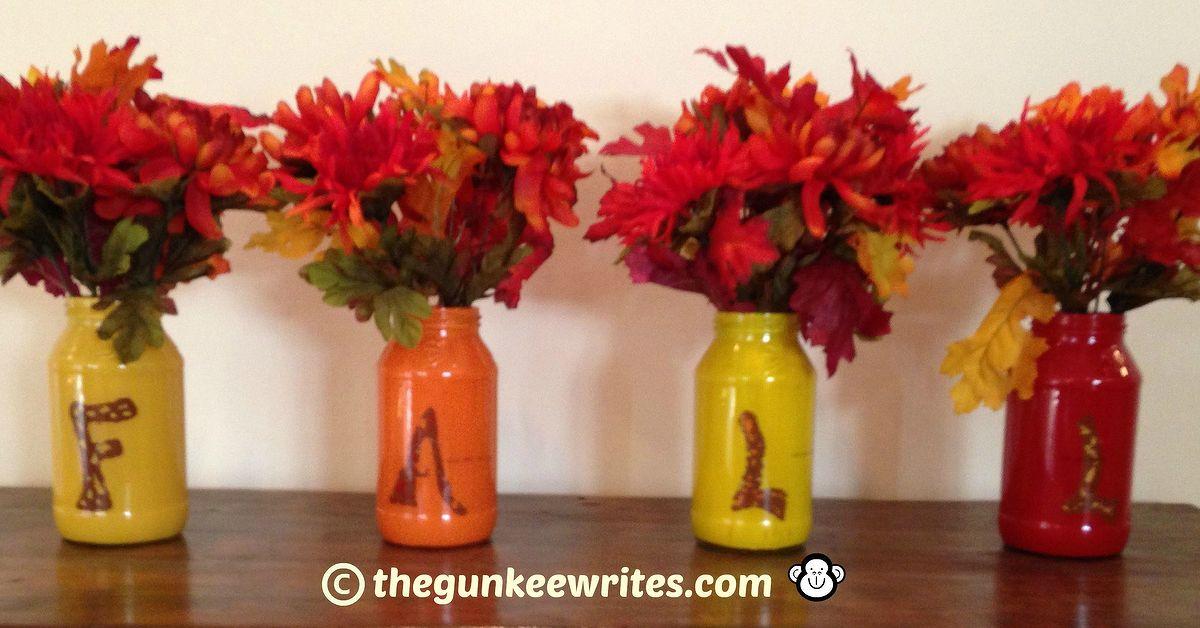 Make Fall Glass Jar Vases Hometalk