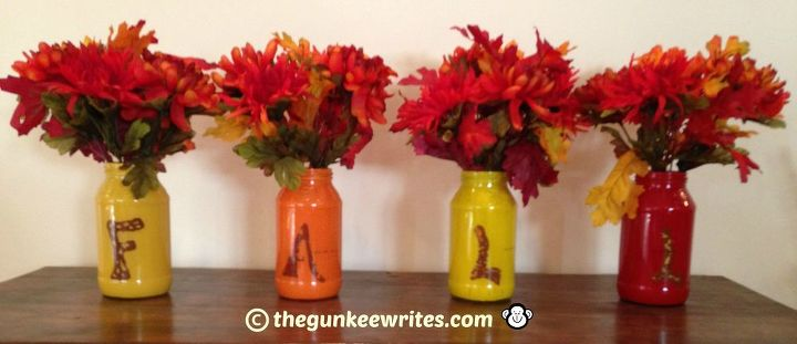 Colorful Fall Jar Vases