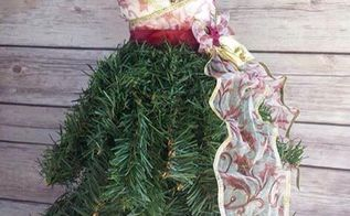 dress form christmas tree mini, christmas decorations, crafts, wreaths