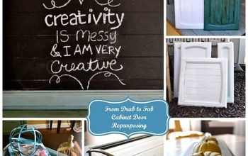 from drab to fab cabinet door repurposing, chalk paint, painted furniture, repurposing upcycling