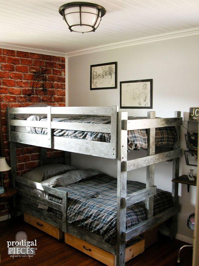 Vintage Industrial Teen Bedroom Makeover | Hometalk