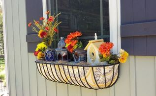 window basket upgrade for winter or always, crafts, repurposing upcycling