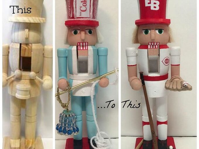 make personalized nutcrackers, christmas decorations, crafts