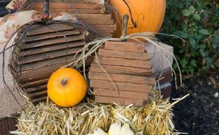 repurposed pallet pumpkins, crafts, repurposing upcycling, seasonal holiday decor, woodworking projects