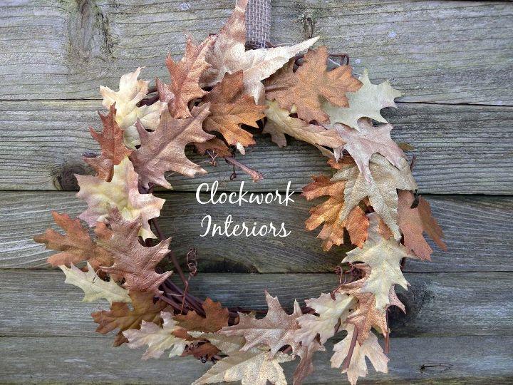diy metal inspired autumn wreath, fireplaces mantels, seasonal holiday decor, wall decor, wreaths