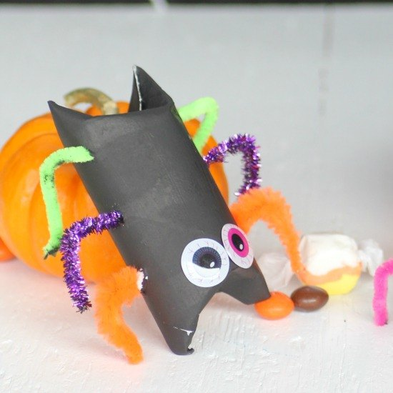 Halloween Kid Craft Candy Filled Toilet Paper Roll Spiders Hometalk