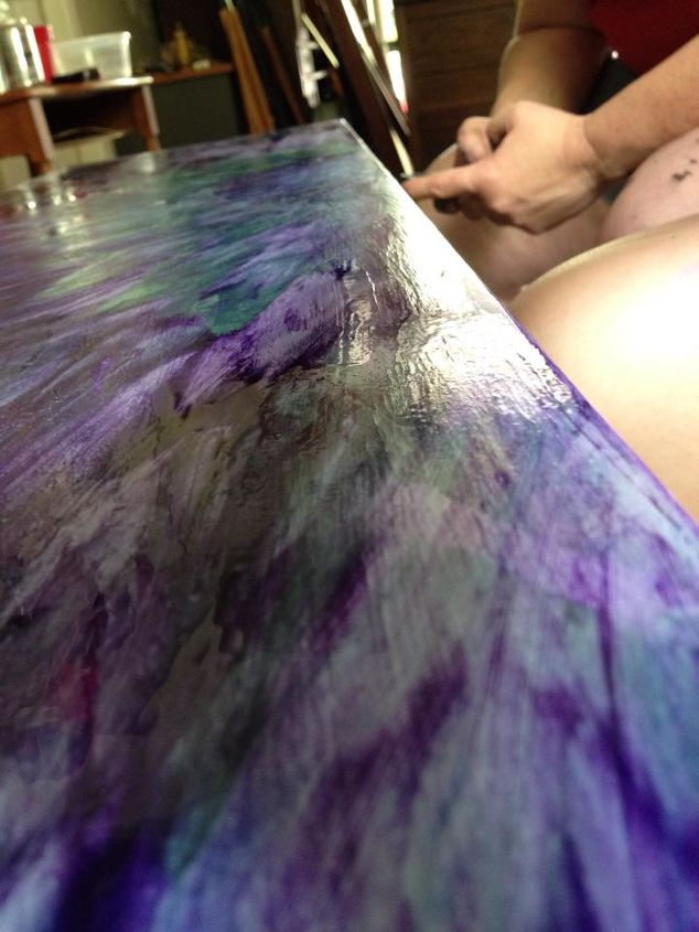 unique statement bench easy enough for kids to make, painted furniture