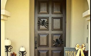 easy halloween front door decor, halloween decorations, seasonal holiday decor