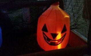 up cycled milk jug halloween decoration, halloween decorations, repurposing upcycling, seasonal holiday decor