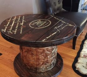 I Had A Vision For This Old Cable Spool, Painted Furniture, Repurposing  Upcycling,