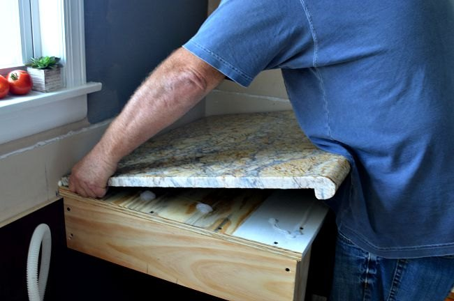Diy Granite Countertop Installation Countertops Home Improvement Kitchen Design