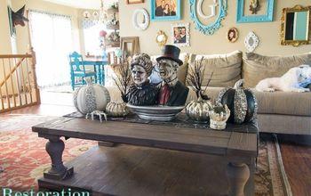 Spooky Halloween Coffee Table Decor
