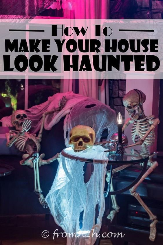 how to make your house look haunted, halloween decorations, how to