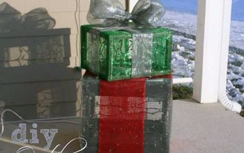 Outdoor Lighted Christmas Gift Boxes (front Porch Christmas Decor)
